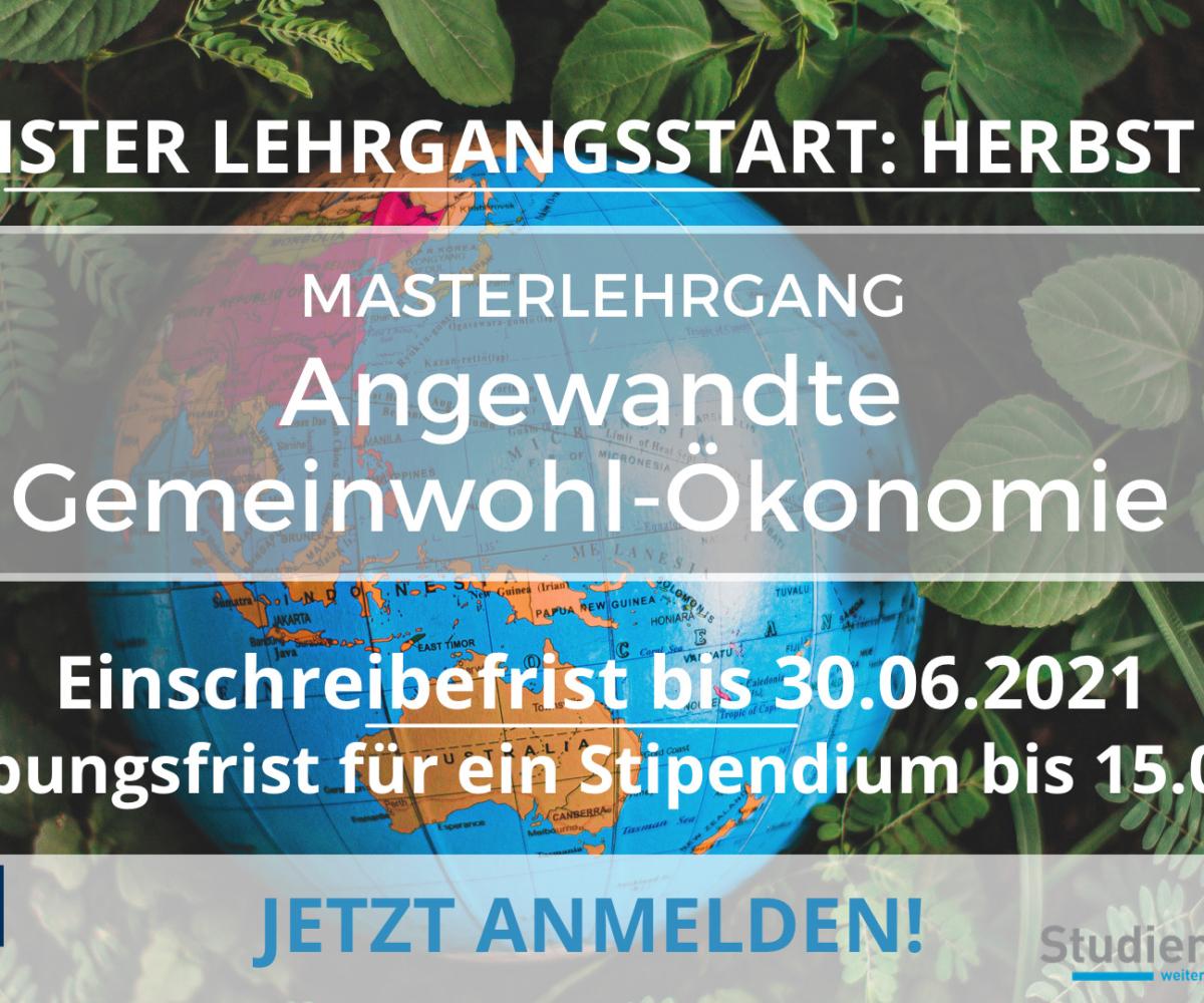 """Masterlehrgang """"Angewandte Gemeinwohl-Ökonomie"""" von SMC Studienzentrum Saalfelden"""